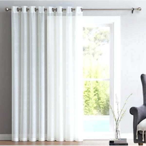 Grommet Patio Door Curtains – Garettgroves With Patio Grommet Top Single Curtain Panels (View 17 of 38)