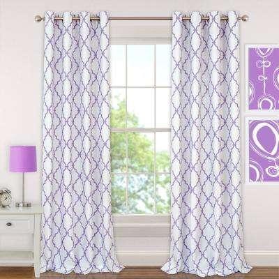 Grommet – Purple – Modern – Curtains & Drapes – Window With Regard To Elrene Aurora Kids Room Darkening Layered Sheer Curtains (View 25 of 40)