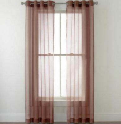 Grommet Sheer Curtain Panel Pair Lot | Ebay With Regard To Curtain Panel Pairs (View 11 of 26)