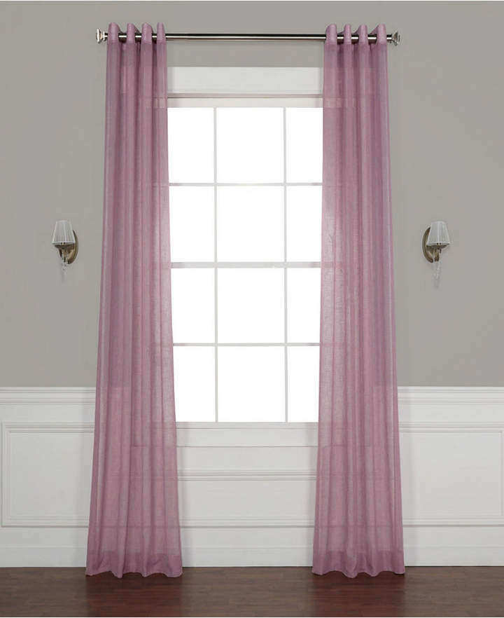Grommet Solid Sheer 50 X 120 Curtain Panel In 2019 | Panel For Montpellier Striped Linen Sheer Curtains (#25 of 50)