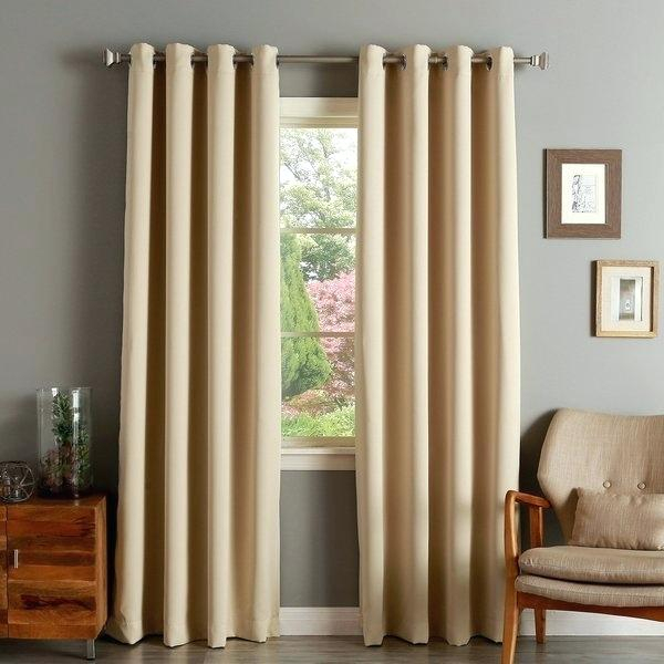 Grommet Top Blackout Curtains – Opcregiondemurcia Inside Forest Hill Woven Blackout Grommet Top Curtain Panel Pairs (#23 of 45)
