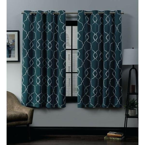Grommet Top Curtain Panels Extra Wide Printed Blackout Inside Forest Hill Woven Blackout Grommet Top Curtain Panel Pairs (#25 of 45)