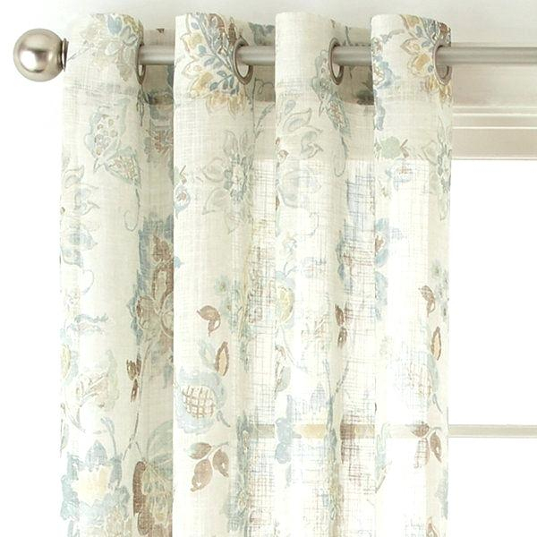 Grommet Top Sheer Linen Curtains Curtain Panel In Delano Indoor/outdoor Grommet Top Curtain Panel Pairs (View 40 of 45)