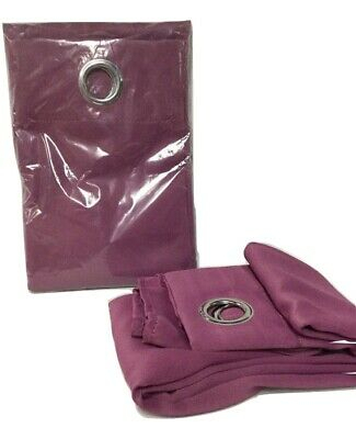 "Grommet Top Solid Curtain Panel Pair – 63"" Purple 