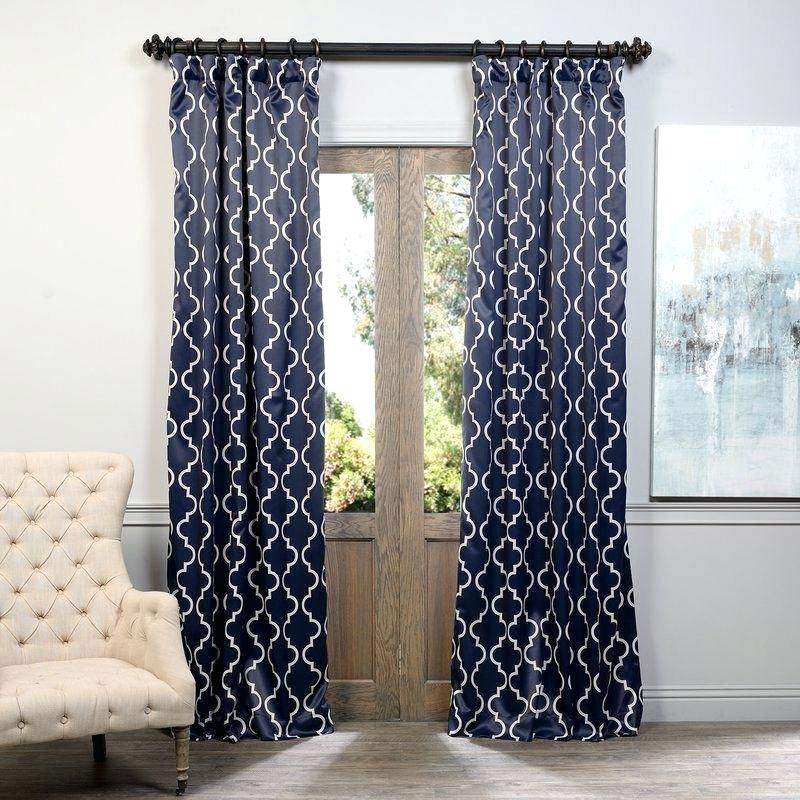 Grouse Geometric Blackout Thermal Rod Pocket Sing Curtain In Thermal Rod Pocket Blackout Curtain Panel Pairs (#32 of 50)