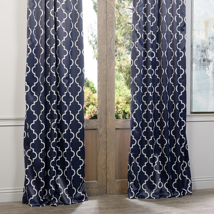 Grouse Geometric Blackout Thermal Rod Pocket Single Curtain Panel Intended For Moroccan Style Thermal Insulated Blackout Curtain Panel Pairs (View 50 of 50)