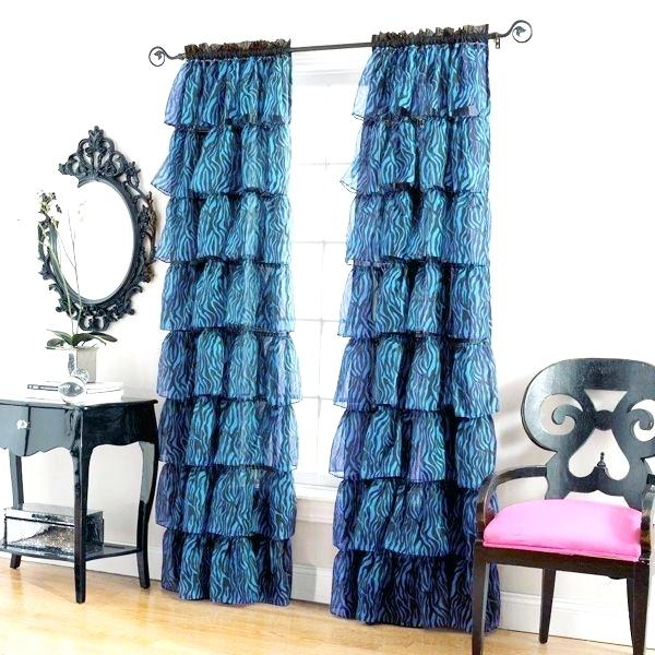 Gypsy Ruffled Curtains – Rocard Within Sheer Voile Ruffled Tier Window Curtain Panels (View 28 of 50)
