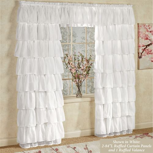 Gypsy Sheer Voile Ruffled Window Treatment Throughout Sheer Voile Ruffled Tier Window Curtain Panels (View 3 of 50)