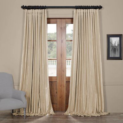 Half Price Drapes Faux Silk Extra Wide Taffeta Blackout For Faux Silk Extra Wide Blackout Single Curtain Panels (View 38 of 50)