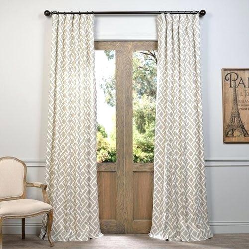 Half Price Drapes Half Price Drapes Platinum X Inch Grommet Inside Mecca Printed Cotton Single Curtain Panels (View 49 of 50)
