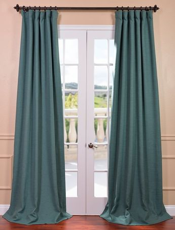 Half Price Drapes Navy Blue 96 X 50 Inch Grommet Blackout Within Copper Grove Fulgence Faux Silk Grommet Top Panel Curtains (View 25 of 50)