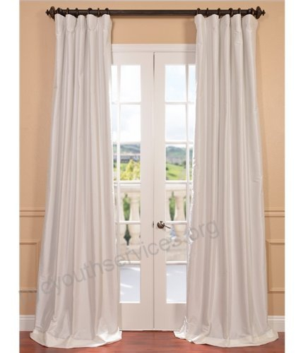 Half Price Drapes Ptch Bo120 96 Blackout Faux Silk Taffeta With Faux Silk Taffeta Solid Blackout Single Curtain Panels (View 29 of 50)