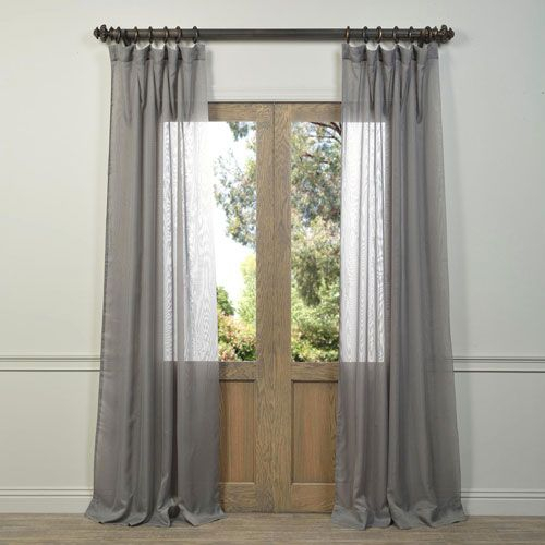 Half Price Drapes Signature Birch French Linen Sheer Single In Signature French Linen Curtain Panels (#20 of 50)
