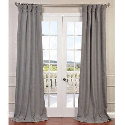 Half Price Drapes Solid Room Darkening Rod Pocket Single With Heavy Faux Linen Single Curtain Panels (View 15 of 32)
