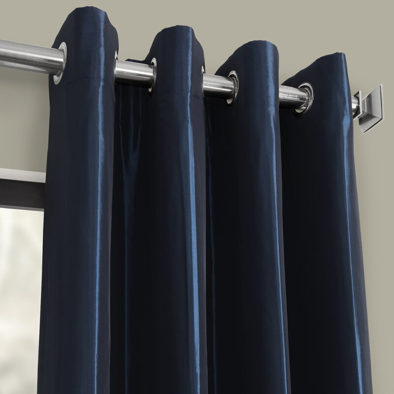 Hallman Solid Max Blackout Thermal Grommet Single Curtain Panel Pertaining To Luxury Collection Faux Leather Blackout Single Curtain Panels (#28 of 42)