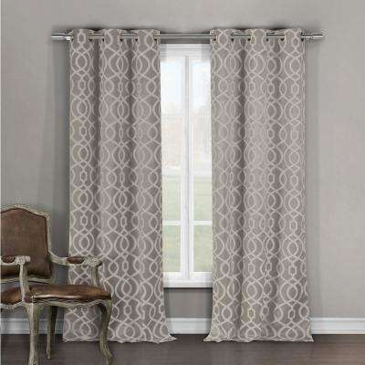 Harris Taupe Blackout Grommet Panel Pair – 36 In. W X 96 In (View 26 of 50)