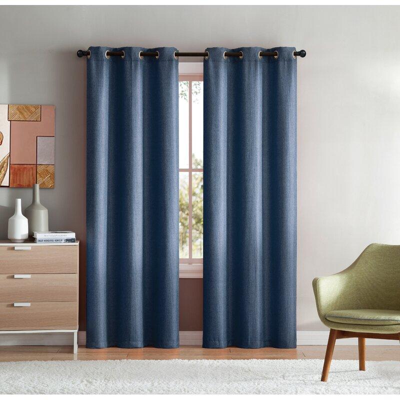 Harrisburg Solid Room Darkening Grommet Curtain Panels Pertaining To Cooper Textured Thermal Insulated Grommet Curtain Panels (View 19 of 50)