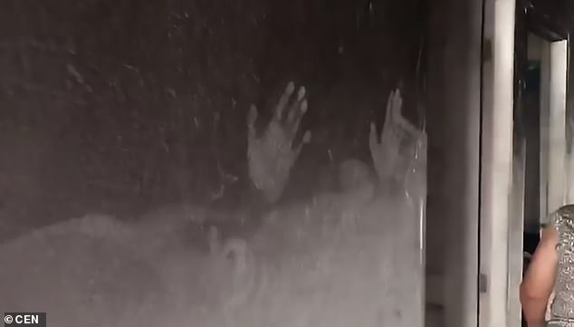 Haunting Images Show Children's Handprints Etched On The Within Luxury Collection Summit Sheer Curtain Panel Pairs (#25 of 50)