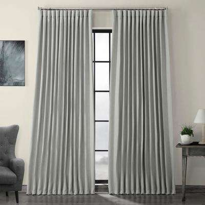Heather Gray Faux Linen Extra Wide Blackout Curtain – 100 In. W X 96 In (View 27 of 50)