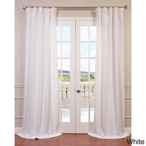 Heavy Faux Linen Single Curtain Panel | Home | Linen Within Heavy Faux Linen Single Curtain Panels (View 19 of 32)