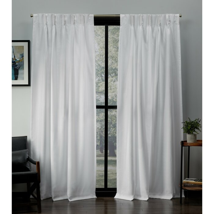 Heil Solid Light Filtering Pinch Pleat Curtain Panels Inside Solid Cotton Pleated Curtains (#18 of 50)