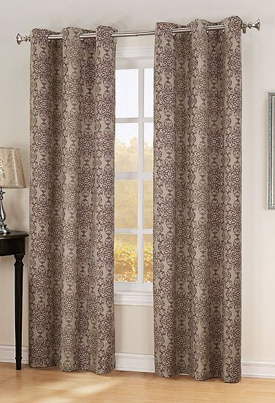 """Henna, 40""""w X 84""""l, Thermal Lined Grommet Panel – Chocolate Pertaining To Tacoma Double Blackout Grommet Curtain Panels (View 20 of 48)"""