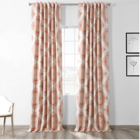 Henna Blackout Curtain – Taffeta Blackout Curtain Within Montpellier Striped Linen Sheer Curtains (#26 of 50)