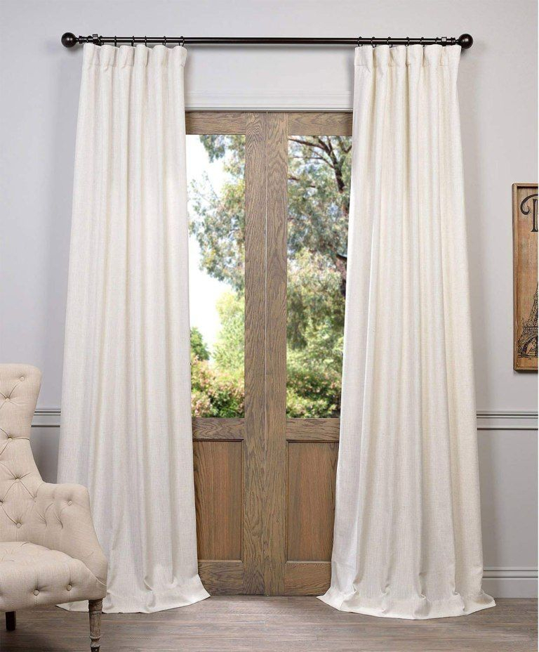 Here's Exactly How Joanna Gaines Created Her Dreamy Master Throughout Faux Linen Extra Wide Blackout Curtains (View 28 of 50)