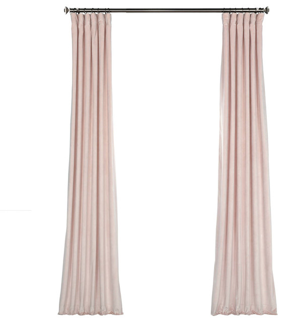 Popular Photo of Heritage Plush Velvet Single Curtain Panels