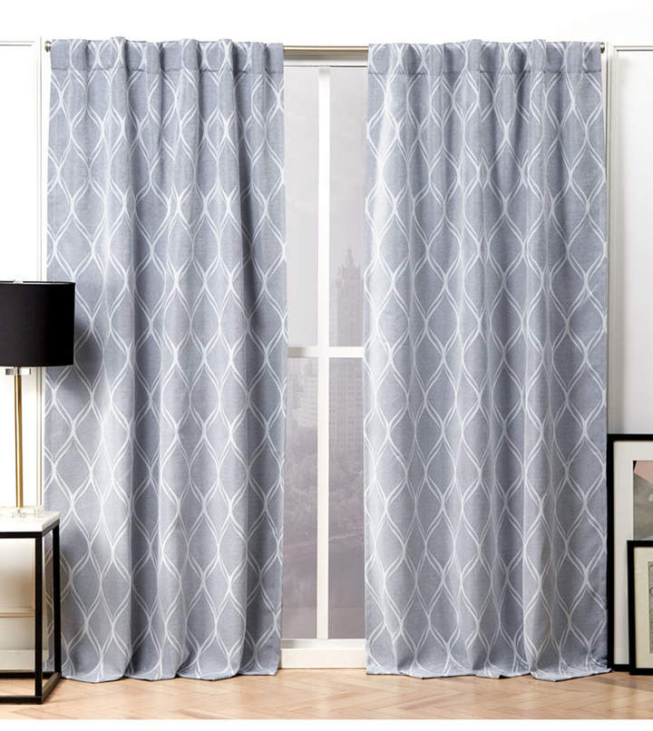Hidden Tab Top Curtains – Shopstyle Regarding Forest Hill Woven Blackout Grommet Top Curtain Panel Pairs (#29 of 45)