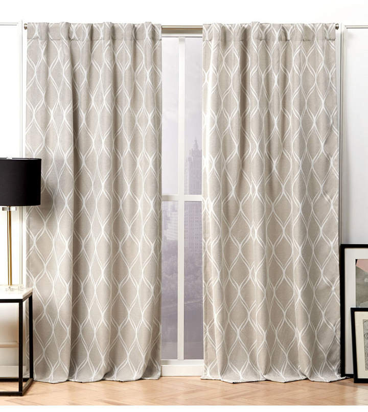 Hidden Tab Top Curtains – Shopstyle With Regard To Forest Hill Woven Blackout Grommet Top Curtain Panel Pairs (#30 of 45)