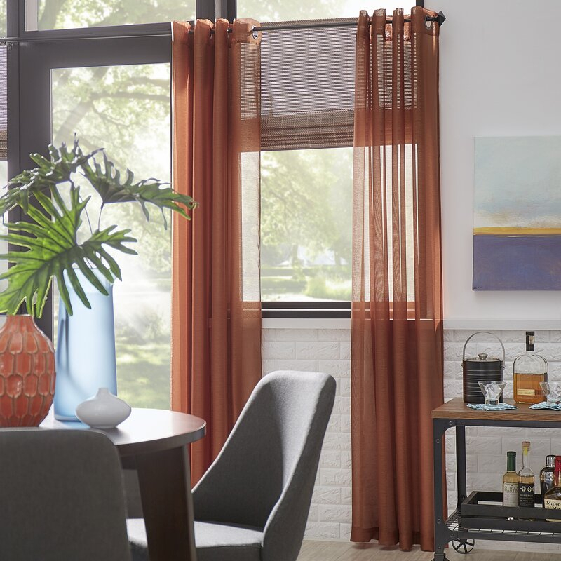 Highlawn Solid Sheer Grommet Curtain Panels Intended For Grommet Curtain Panels (#19 of 39)