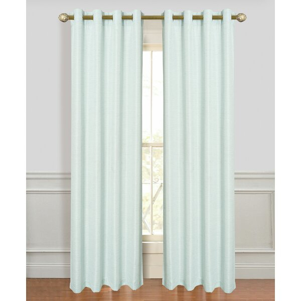 Higuera Fine Antique Silk Extra Wide Solid Room Darkening Grommet Window Curtain Panels For Vue Elements Priya Tab Top Window Curtains (View 28 of 36)