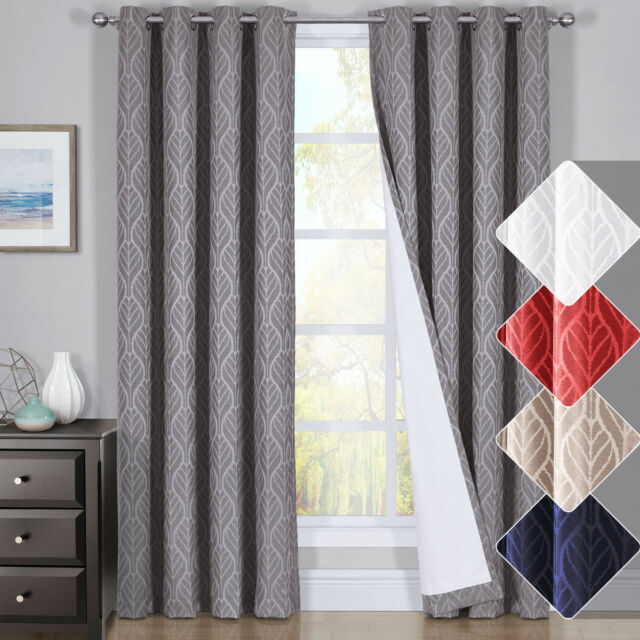 Hilton Window Treatment Thermal Insulated Grommet Blackout Curtains /drapes Pair Within Insulated Blackout Grommet Window Curtain Panel Pairs (View 9 of 37)