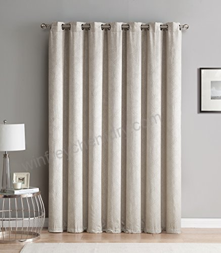 Hlc Redmont Lattice Extra Wide Width Thermal Blackout With Regard To Superior Leaves Insulated Thermal Blackout Grommet Curtain Panel Pairs (#26 of 50)
