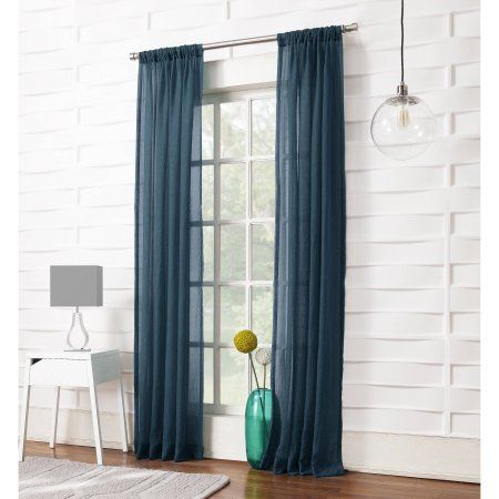 Popular Photo of Ladonna Rod Pocket Solid Semi Sheer Window Curtain Panels