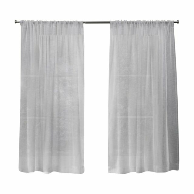 Popular Photo of Belgian Sheer Window Curtain Panel Pairs With Rod Pocket