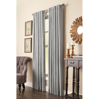 Home Decorators Collection Faux Linen Light Filtering Window Regarding Heavy Faux Linen Single Curtain Panels (View 20 of 32)