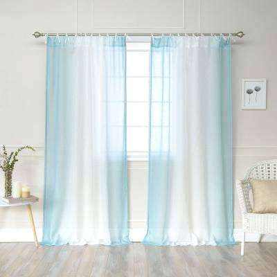 Home Design Ombre Sheer Curtains Faux Linen Border Rod In Ombre Faux Linen Semi Sheer Curtains (#23 of 50)