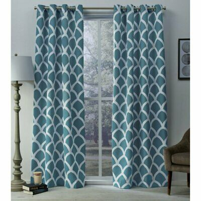 Home Durango Printed Geometric Grommet Top Curtain Panel Pair | Ebay For Easton Thermal Woven Blackout Grommet Top Curtain Panel Pairs (#31 of 44)