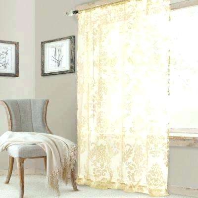 Home Fashions Sheer Ivory Single Window Curtain Panel In W X Within Elrene Aurora Kids Room Darkening Layered Sheer Curtains (View 27 of 40)