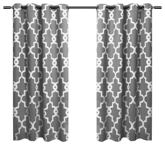 Home Ironwork Sateen Woven Darkening Curtain Panel Pair, Black Pearl, 52X63 Inside Sateen Twill Weave Insulated Blackout Window Curtain Panel Pairs (View 22 of 29)
