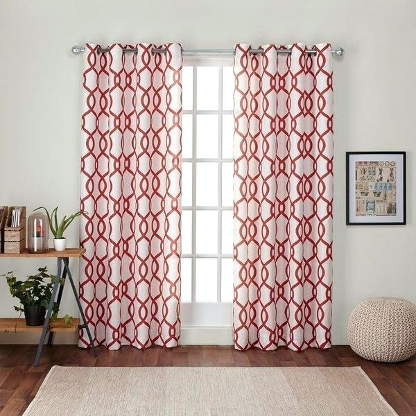 Home Linen Blend Window Grommet Top Curtain Panel Pair In Indoor/outdoor Solid Cabana Grommet Top Curtain Panel Pairs (#28 of 48)