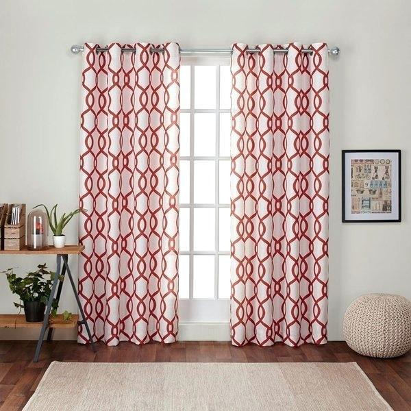 Home Linen Blend Window Grommet Top Curtain Panel Pair Regarding Oxford Sateen Woven Blackout Grommet Top Curtain Panel Pairs (View 23 of 44)
