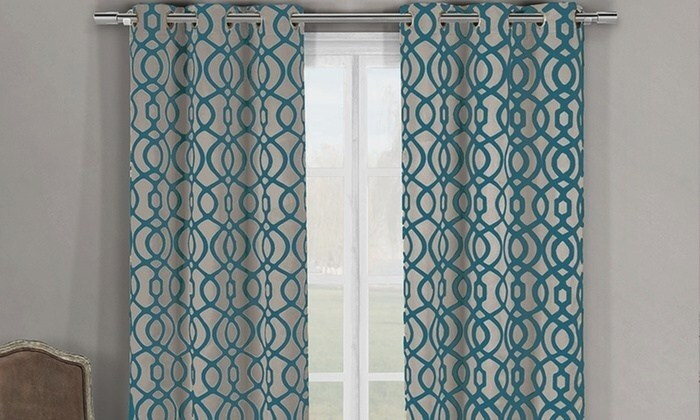 Hot Teal Curtain Panels – Securitykey (View 24 of 46)