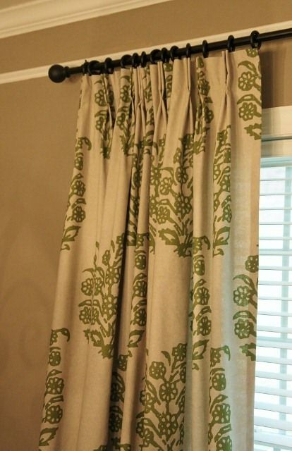 How To Add Pinch Pleats To Store Bought Rod Pocket Drapes Throughout Double Pinch Pleat Top Curtain Panel Pairs (#18 of 50)