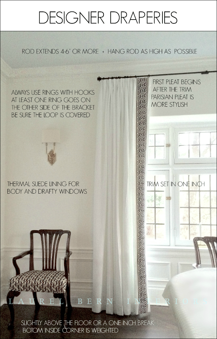 How To Get Window Treatments Like You See In Magazines For French Linen Lined Curtain Panels (#25 of 50)