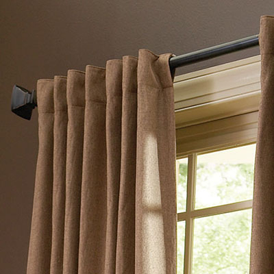 How To Hang Curtain Rods – The Home Depot Regarding Keyes Blackout Single Curtain Panels (View 42 of 50)