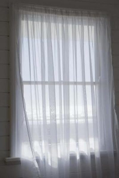 How To Hang Voile Curtains | Home Guides | Sf Gate Inside Double Layer Sheer White Single Curtain Panels (View 26 of 50)