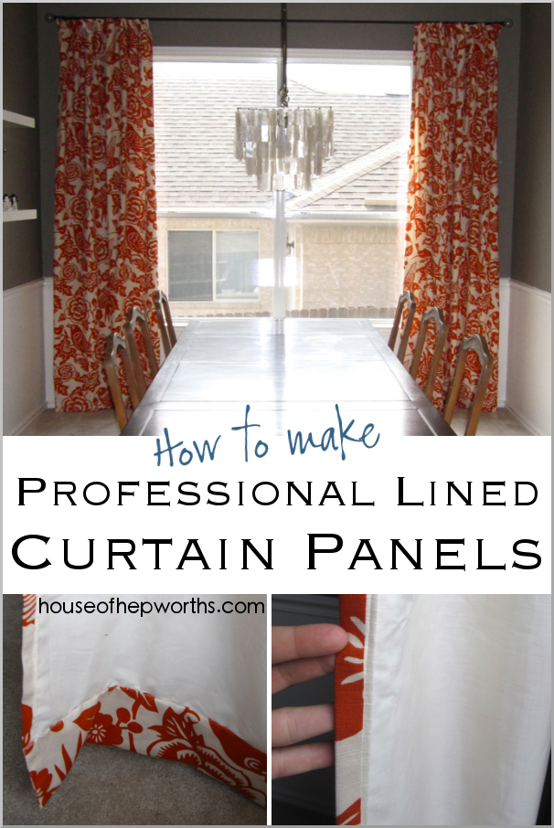 How To Make Professional Lined Curtain Panels – House Of For French Linen Lined Curtain Panels (#27 of 50)